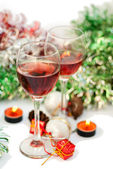 Red wine for Christmas — Stock Photo