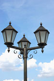 Neo-gothic street light — 图库照片