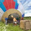Balloon inflate before flight - Stock Photo