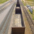 Stock Photo: Rails And freight car