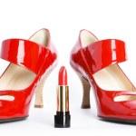 Постер, плакат: Red shoes and red lipstick
