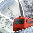 Train of dream of winter travel - Stock Photo