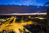 Moscow. Night. Kind from above on VDNH — Stock Photo