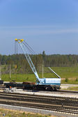 Rail gantry crane — Stock Photo