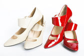 Two pairs new ladies' shoes — Stock Photo