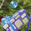 New Years ball and gift box — Stockfoto #1818280