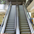 Empty escalator conducting upward — Stock Photo