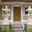 Bali, entrance doors in the house — Stock Photo