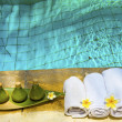 Towels and means for Spa — Stock Photo #1818842