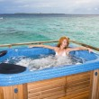 Woman in jacuzzi — Stock Photo #1818898