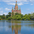 Russia, Peterhof and the Church — Stock Photo #1819043