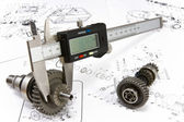 Calliper is ready to measurement — Stock Photo