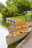 Boats on a pond — Stock Photo