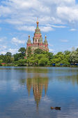 Russia, Peterhof and the Church — Stock Photo