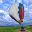 Balloon on background of cloudy sky — Stock Photo