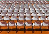 Koltuk sırt seyirci için boş satırlar — Stok fotoğraf