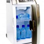 Traveling automobile refrigerator — Stock Photo