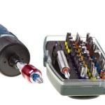 elektrische boor-schroevendraaier-opslag — Stockfoto