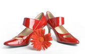 Scarpe su un tacco alto — Foto Stock