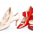 Stock Photo: Two pairs elegant ladies' shoes