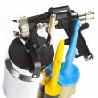 New metal brilliant Spray gun - Foto de Stock