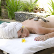 The young woman to Spa procedures — Stock Photo