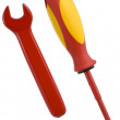 Spanner and screwdriver - Stock Photo