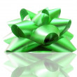 Stock Photo: Green bow