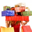 Shopping girl — Stockfoto