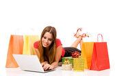 Shopping över internet — Stockfoto