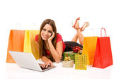 Shopping over internet — Stockfoto