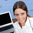Stock Photo: Customer operator