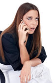 Worried businesswoman — Stock Photo