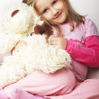 Stok fotoğraf: Nice young girl in pink