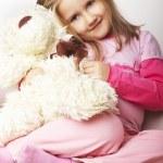hübsches, junges Mädchen in Rosa — Stockfoto