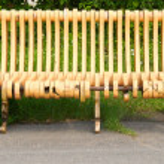 Broken bench — Stock Photo