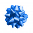 Gift blue bow — Stock Photo