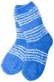 Blue socks — Stock Photo