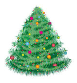 Fir kerstboom 1 — Stockvector