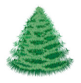 Christmas fir tree 2 — Vector de stock