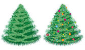 Christmas fir tree — Vector de stock