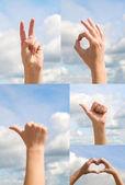 Gesturing hands — Stock Photo