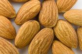 Almonds background — Stock Photo