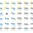 Web weather icons - Stock Photo