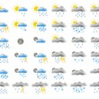 Stock Photo: Web weather icons