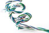 Spiraal van gekleurde draden — Stockfoto