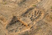 砂の足跡 — ストック写真