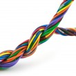 Twisted cable — Stock Photo
