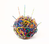 Ball of colored wire — Stock Photo