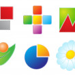 Set of six vector icons — Stock Vector #2625655